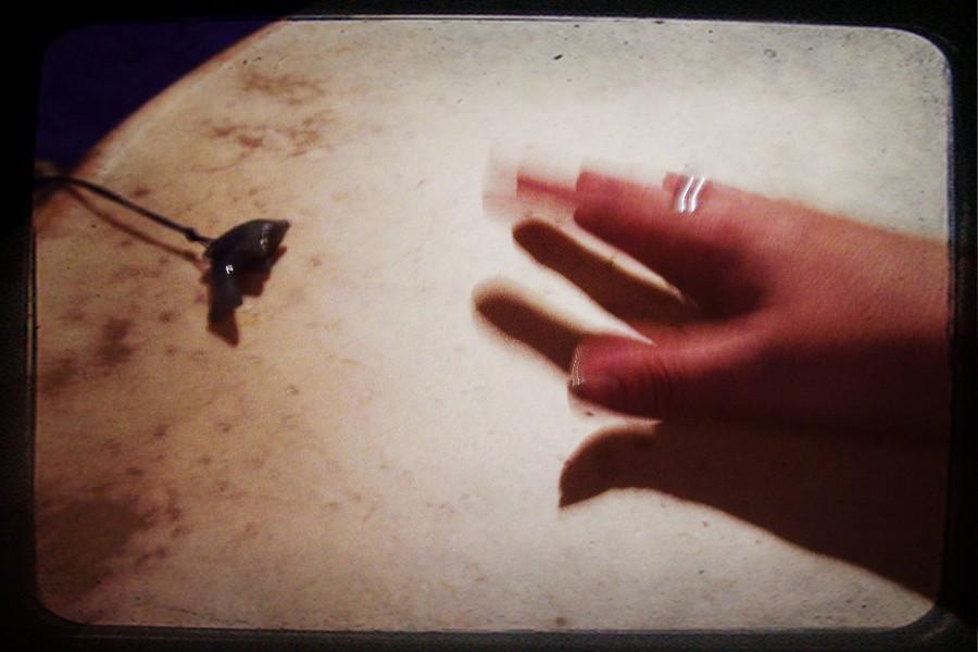 Schamanen Trommel Hand
